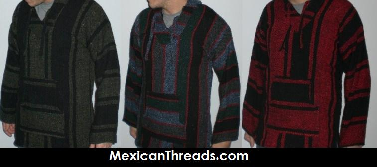 Manakamana Mexican Cotton Hooded Poncho Mens Womens – HD